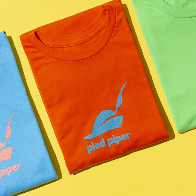 Pied Piper Branded T-Shirts Produced for Conde Nast Publishing | DRIVe Marketing Group of Portland, Oregon